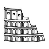 Rome coliseum isolated icon. Vector illustration design Royalty Free Stock Image