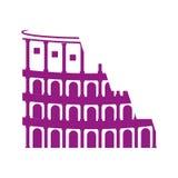 Rome coliseum landmark icon Stock Image