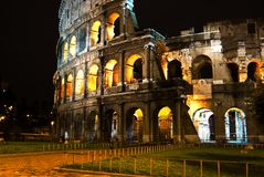 Rome Coliseum by night Royalty Free Stock Photos