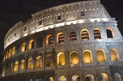 Rome Coliseum in the night stock image