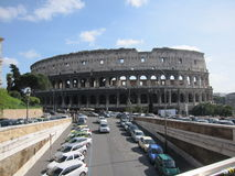 Rome Coliseum. Photo of the Rome Coliseum taken from the road Stock Images