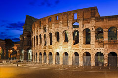 Rome Coliseum Side Rise Stock Image