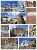 Rome collage Stock Image