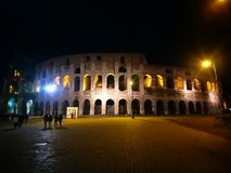 Rome Colliseum at Night royalty free stock images