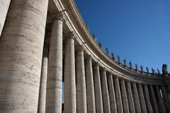 Rome, colonnato San Pietro Stock Afbeeldingen