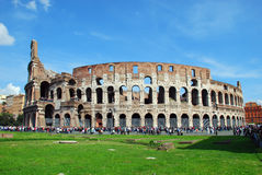 Rome - Colosseo. The Colosseum or Coliseum, originally the Flavian Amphitheatre (Latin: Amphitheatrum Flavium, Italian Anfiteatro Flavio or Colosseo), is an Stock Images