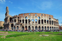 Rome - Colosseo. The Colosseum or Coliseum, originally the Flavian Amphitheatre (Latin: Amphitheatrum Flavium, Italian Anfiteatro Flavio or Colosseo), is an Royalty Free Stock Photo