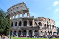 Rome - Colosseo. The Colosseum or Coliseum, originally the Flavian Amphitheatre (Latin: Amphitheatrum Flavium, Italian Anfiteatro Flavio or Colosseo), is an Stock Photos