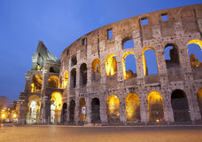 Rome - colosseum. In evening Stock Photos