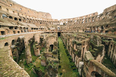 Rome Colosseum. Inside view of the rome colosseum stock photography