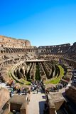 Rome Colosseum. Interior architectural details of ancient Colosseum, Rome, Italy Royalty Free Stock Photo