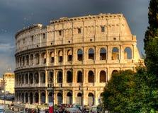 Rome colosseum. Rome Colosseum against the deep blue sky. Rome, Italy Stock Photo