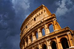 Rome Colosseum Architecture in Rome City Center royalty free stock photo