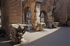 Rome - colosseum archs and capitals Royalty Free Stock Image