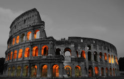 Rome Colosseum At Night Royalty Free Stock Photography