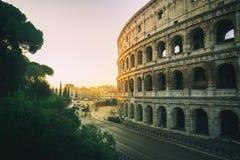 Rome Colosseum au lever de soleil ? Rome, Italie image stock
