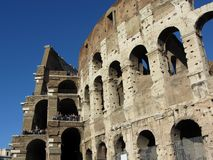 Rome Colosseum Cross Section Royalty Free Stock Image