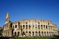 Rome Colosseum Daytime Panoramic View Royalty Free Stock Images