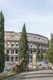 Rome Colosseum from Domus Aurea Royalty Free Stock Photos