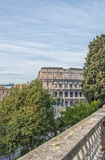 Rome Colosseum from Domus Aurea park Royalty Free Stock Image