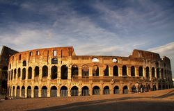 Rome Colosseum at dusk royalty free stock image