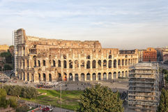 Rome Colosseum elevated view Stock Photos