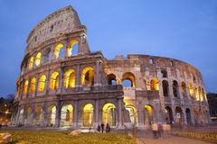 Rome - colosseum in evening. Lighting Royalty Free Stock Photos