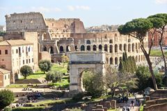 Rome, Colosseum and Forum Romanum Royalty Free Stock Image