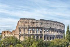 Rome Colosseum från Domus Aurea parkerar område Fotografering för Bildbyråer
