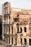 Rome Colosseum Full of Tourists Stock Photos
