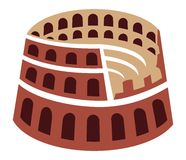 Rome colosseum icon Royalty Free Stock Image