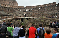 Rome Colosseum Inside People, Italy royalty free stock photo