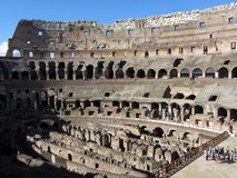 Rome Colosseum Interior Stock Photography