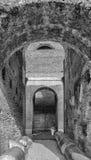 Rome Colosseum Interior arches mono Stock Image