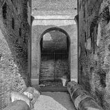 Rome Colosseum Interior archway mono Royalty Free Stock Photo