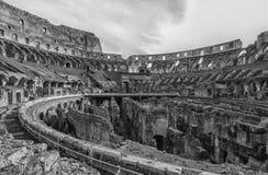 Rome Colosseum Interior pano mono Royalty Free Stock Image