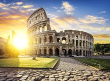 Rome and Colosseum, Italy stock image