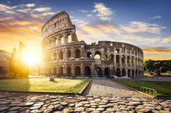 Rome and Colosseum, Italy royalty free stock image