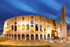 Rome - Colosseum. At night, long exposure Royalty Free Stock Photos