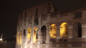Rome Colosseum night scene stock footage