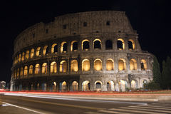 Rome Colosseum Night View Royalty Free Stock Photo