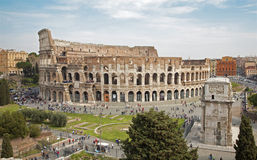 Rome - colosseum from Palatine hill Stock Photography