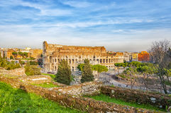 Rome Colosseum from Palatine Hill Royalty Free Stock Photo