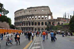 Rome Colosseum People, Italy Royalty Free Stock Photo
