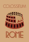 Rome colosseum poster Royalty Free Stock Photography