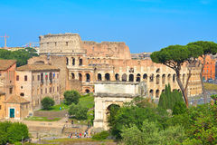 The Rome Colosseum in Rome, Italy Stock Photo
