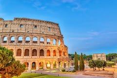 Rome Colosseum. Rome sunrise city skyline at Rome Colosseum Roma Coliseum, Rome, Italy royalty free stock photo