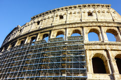 Rome Colosseum sous la restauration Photo libre de droits