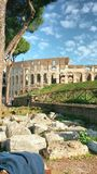 Rome colosseum. Colosseum Rome sunny day history Royalty Free Stock Photography