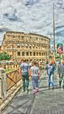 Rome colosseum. Sunny day History Stock Photography
